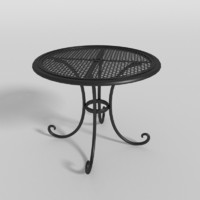 patio table 3d obj