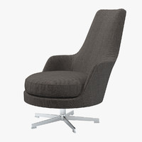 flexform gusciolato soft chair 3d model