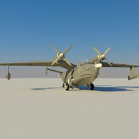 be-12 seaplane 3d max