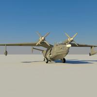 be-12 seaplane 3d model