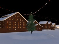 max christmas winter scene