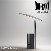 3d modernica half lamp light model