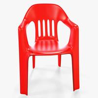 3d model of plastic chair