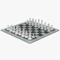 chessboard glass 3d 3ds