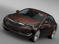 3d model opel insignia turbo 2015