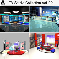 3d tv stage studio vol model