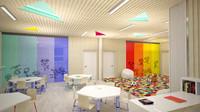 3d kindergarten interior