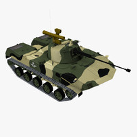 bmd-2 airborne vehicle 3d model