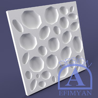 3d wall decorative panel cobblestone