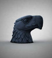 3d model eagle statue