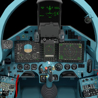 3ds max fighter cockpit cabin