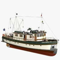 3d max columbia mission boat historic