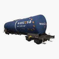 tank railcar zacns 3d model