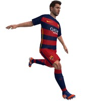 3d model rigged lionel messi