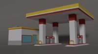 gas station - 3d 3ds