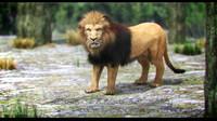 3dsmax lion fur
