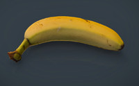 3d model of real banana
