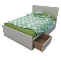3d model bed underbed platform