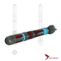 3ds sci-fi rocket missile 1