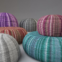 knitted fabric pouf 3d model