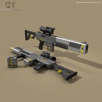 fbx energy weapon sci-fi
