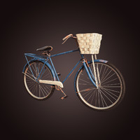 old rusted bicycle 3d obj