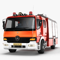 3ds mercedes benz atego truck
