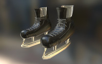 hockey skates 3d obj