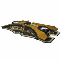 3ds max - sci fi building