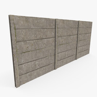 3d modular concrete wall model