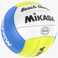 volleyball modeled leather 3d model