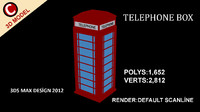 3d model telephone box