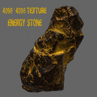 3d model glowing rock