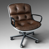 3d pollock executive chair