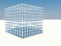 cube grid obj