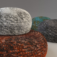 3dsmax knitted fabric pouf