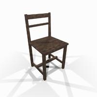 maya worn wooden chair