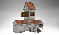 house building historic 3d 3ds