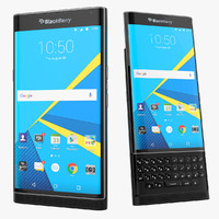 blackberry priv android smartphone 3d model