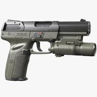 gun fn five-seven green 3d model