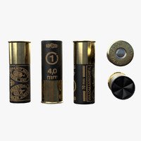 3d shotgun shell