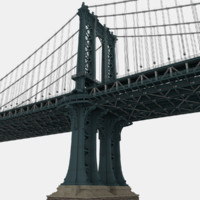 manhattan bridge 3d model
