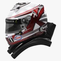 racing helmet kevin magnussen 3d max