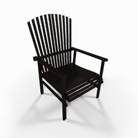 wooden garden chair 3d max