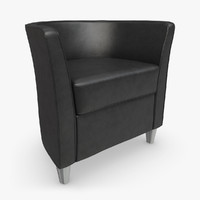 sillon boss 08 leather 3d model