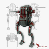 sci-fi robot simple 3ds