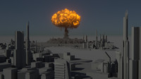 houdini power asset nuclear explosion 3d model