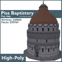 3d model pisa baptistery