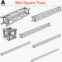 3d model of mini square truss 005