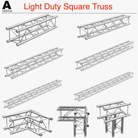 3d model light duty square truss